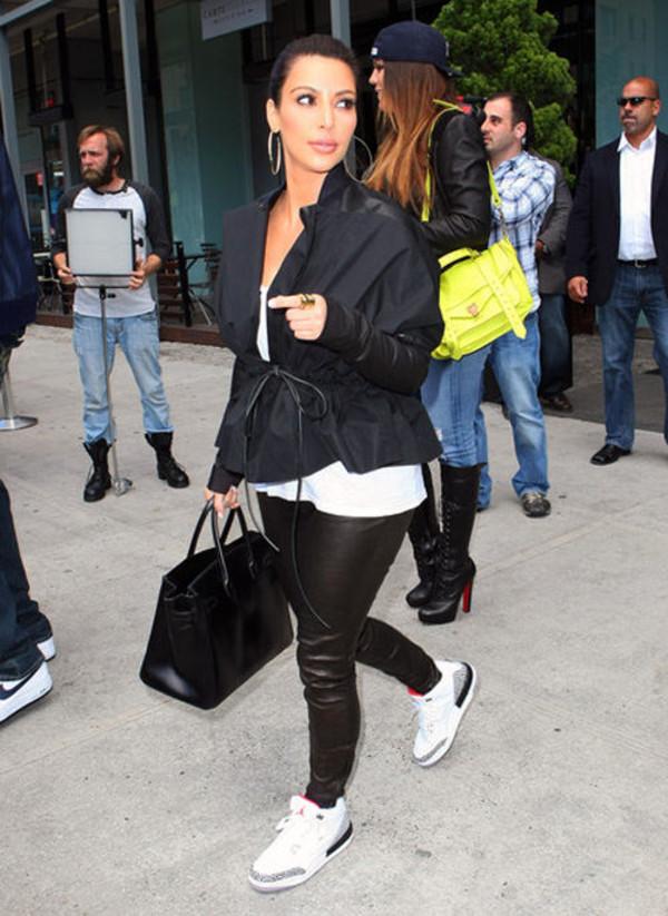 bag denim jacket leggings air jordan kim kardashian khloe kardashian shoes coat jeans