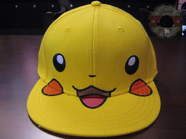 cap pikachu pokemon hat yellow cap