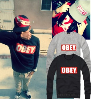 2013 Obey Hiphop Skateboard O neck Pullover Men's Sweatshirt Harajuku Free Shipping-inHoodies & Sweatshirts from Apparel & Accessories on Aliexpress.com