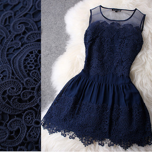 Freel Shipping Lace hand embroidered organza lace sleeveless dress princess dress tutu dress-in Dresses from Apparel & Accessories on Aliexpress.com