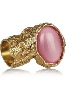 Arty gold-plated glass ring   Yves Saint Laurent   THE OUTNET