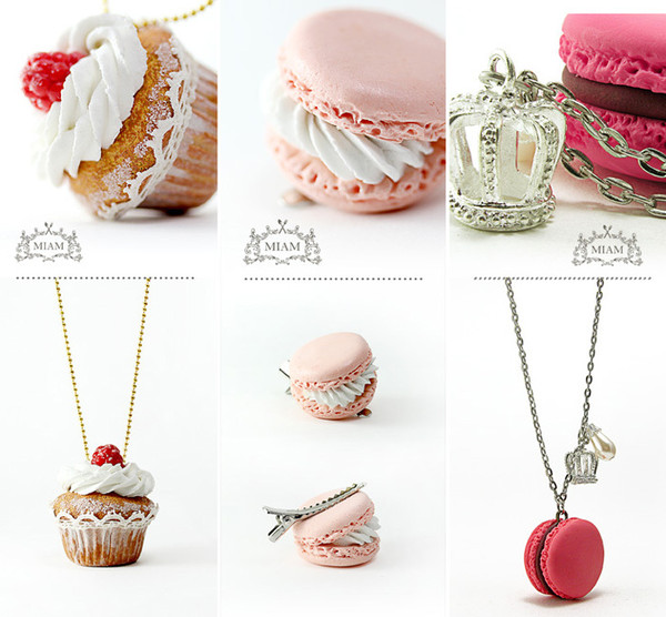 jewels cupcake necklace holiday gift