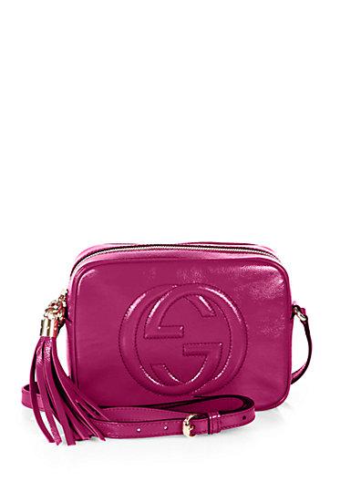 Gucci - Soho Patent Leather Disco Bag - Saks.com