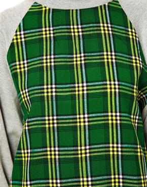ASOS Africa | ASOS Africa Sweater With Check Front Panel at ASOS