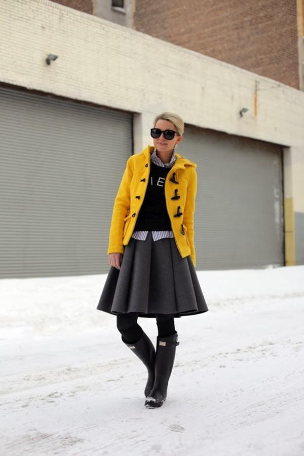 atlantic pacific coat sweater skirt shoes t-shirt