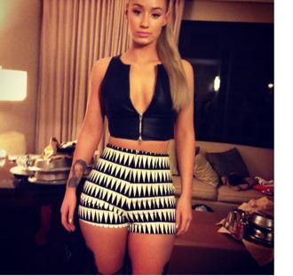skirt shorts shirt tribal pattern zip-up leather shirt iggy azalea iggy high waist hot shorts. iggy azaela