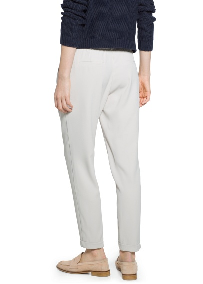 MANGO - CLOTHING - Trousers - Pleat baggy trousers