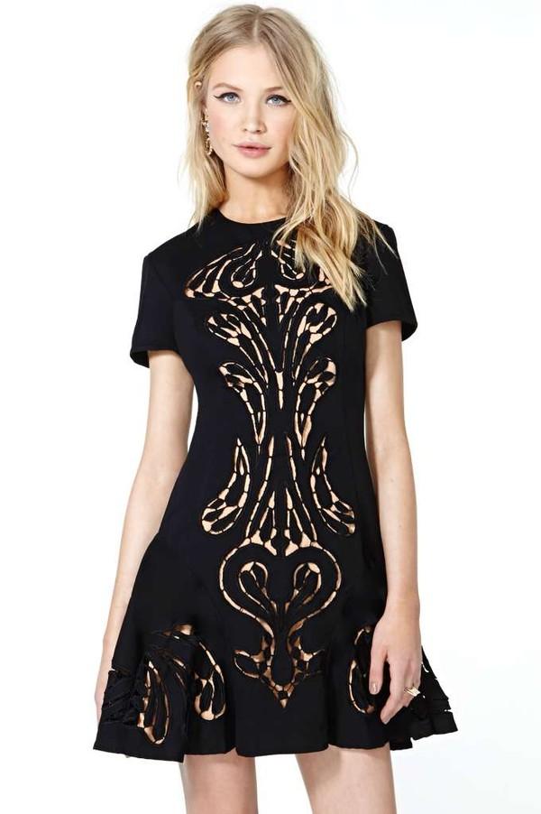 dress black dress alice mccall traveland ship dress mini dress