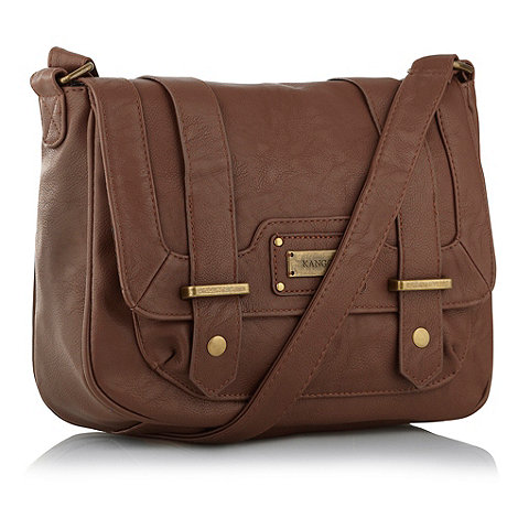 Kangol Chocolate brown medium satchel bag- at Debenhams.com