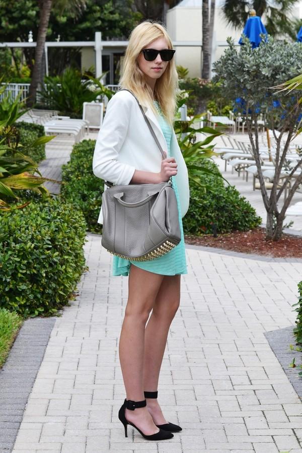 vogue haus dress jacket jewels shoes bag sunglasses