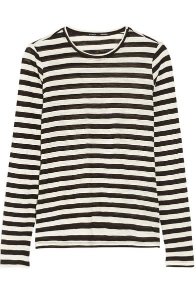 Proenza Schouler|Striped slub-cotton jersey top|NET-A-PORTER.COM