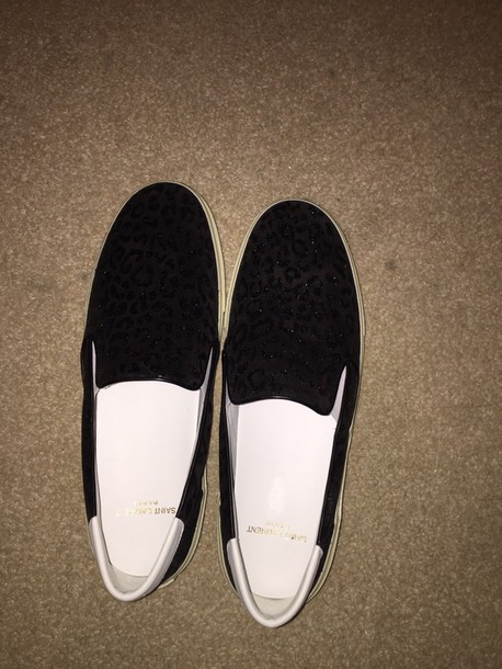 shoes ysl saint laurent slip on shoes style shinning dark sneakers
