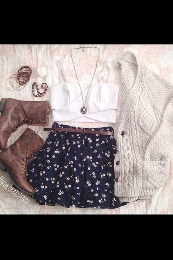 shoes tank top skirt belt jewels sweater jacket dress