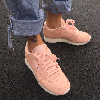 shoes reebok tattoo classic light pink pastel pink pink sports shoes peach casual sportswear girly pastel sneakers pastel pink reebok shoes baby pink brand low top sneakers pink sneakers adidas pink shoes pastel sneakers streetwear running shoes