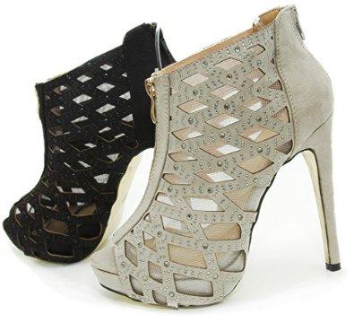 FEIDA Pump mit Netz in Schwarz oder Grau: Amazon.de: Schuhe & Handtaschen