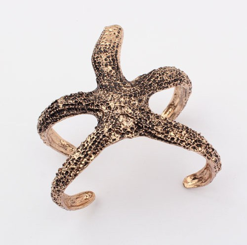 Min.order is $10 (mix order) Fashion Europe exggerated vintage sea star Starfish Bracelet Jewelry wholesale!  B5057-in Vintage Bracelets & Bangles from Jewelry on Aliexpress.com