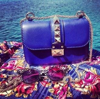 bag blue bag blue clutch cobalt blue cobalt clutch spikes