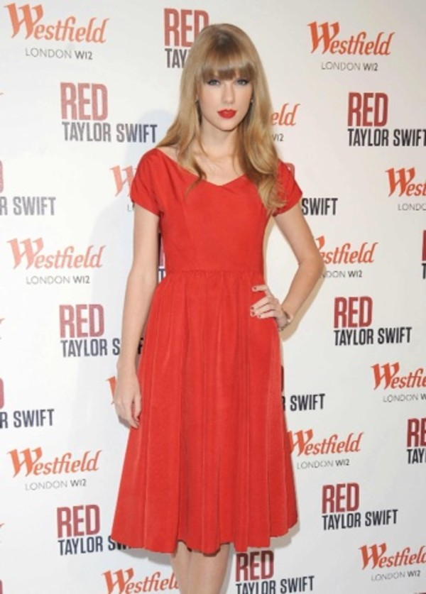 dress red dress taylor swift red