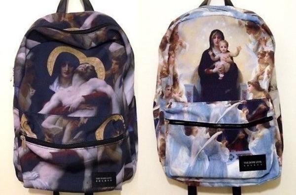 bag backpack urban street arty art painting