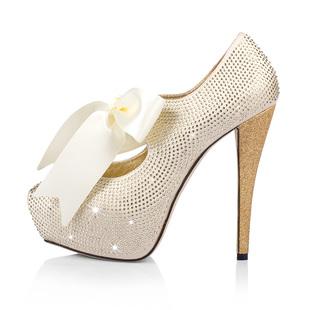 Ribbon Crystal Stiletto Heel Wedding Party Shoes Ribbon Crystal Stiletto Heel Wedding Party Shoes [D5S4bridal_2501] - $335.61 :