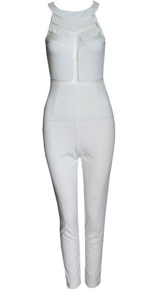 Mesh Panelle Jumpsuit   Outfit Made