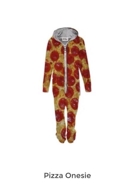 pajamas pizza onesie