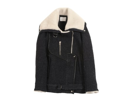 """Notting Coat - Slightly oversized coat """"aviator style"""" - Black - Jackets & Coats - Women - IRO"""