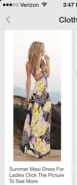 dress maxi cut-out