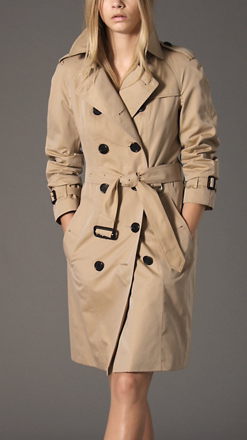 Trench-coat long en gabardine de coton | Burberry