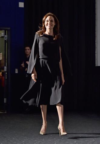 blouse angelina jolie black skirt