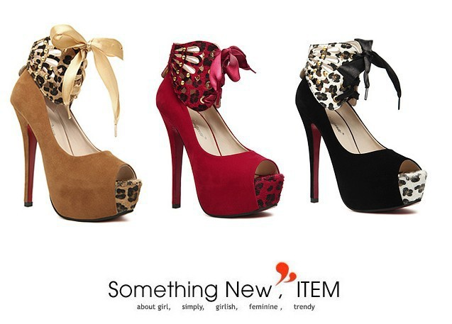 Free Shipping US Size 4~8 2013 New Fashion Sexy Women's Red Bottom Peep Toe Platform 14cm Stiletto High Heels Shoes Party Pumps-in Pumps from Shoes on Aliexpress.com