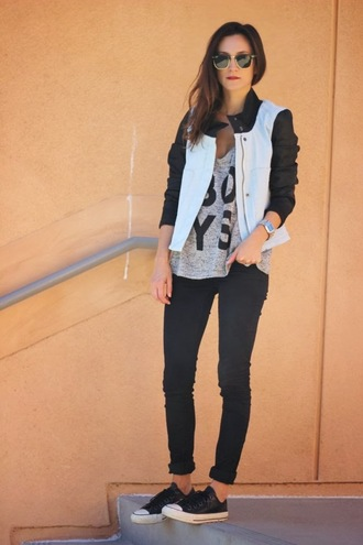 frankie hearts fashion jacket tank top pants shoes sunglasses