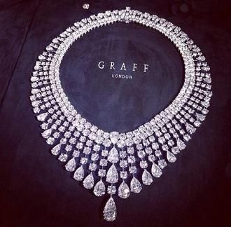 jewels jewelery necklace diamonds silver hot fashion sparkle clear graff collier