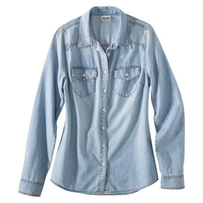 Mossimo Supply Co. Juniors Long Sleeve Denim But... : Target