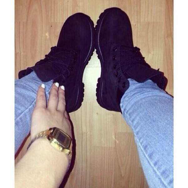 shoes black timberlands black timberlands jewels
