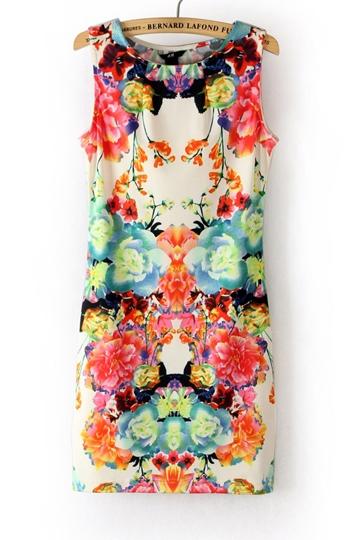 Folky Print Sleeveless Dress [FXBI00303]- US$ 16.19 - PersunMall.com