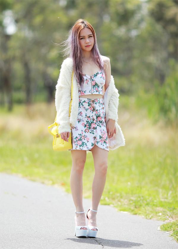 chloe ting skirt bag shoes