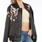Birds of love stitched bomber jacket