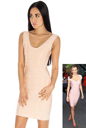 Bodycon Vest Shape Dress in the style of Miranda Kerr