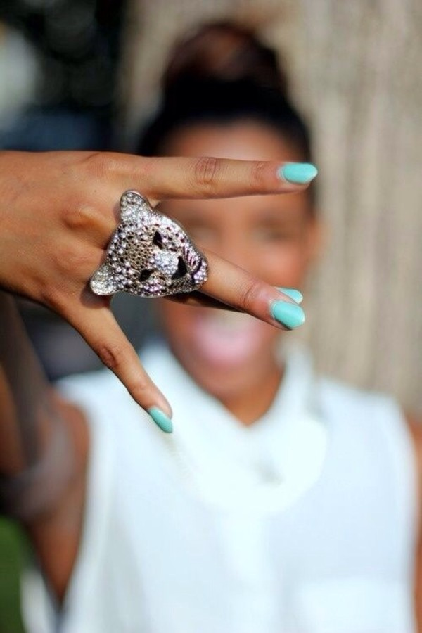 jewels ring animal leopard print jewelry silver pretty