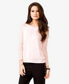 Lace Sleeve Raglan Top | FOREVER21 - 2027705521