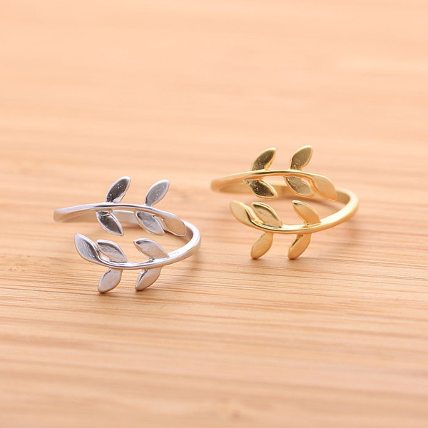 jewels jewelry leaves leaf ring babyleaf ring adjustable ring ring