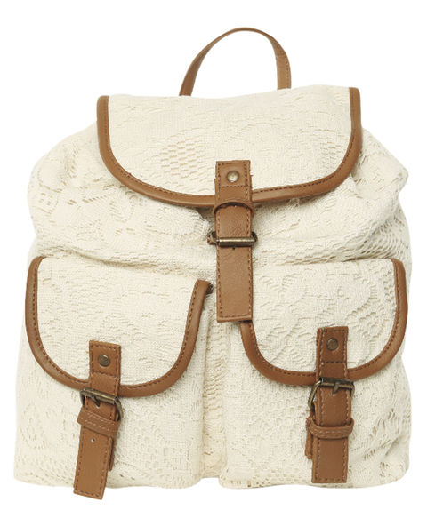 Floral Crochet Backpack - WetSeal