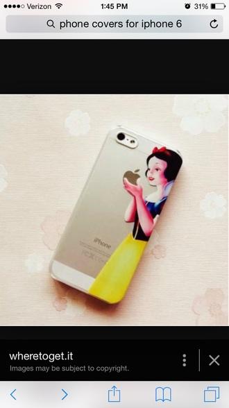 phone cover snow white apple