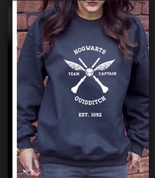 sweater crewneck quidditch hogwarts harry potter