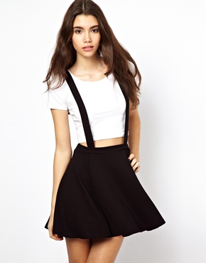 ASOS | ASOS Ponte Skater Skirt with Suspenders at ASOS
