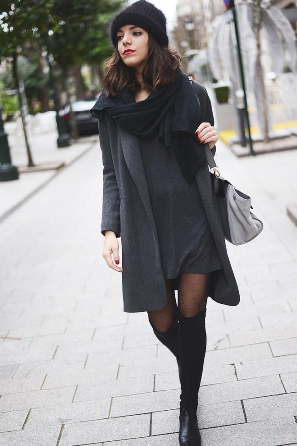 the fashion through my eyes dress coat hat shoes bag