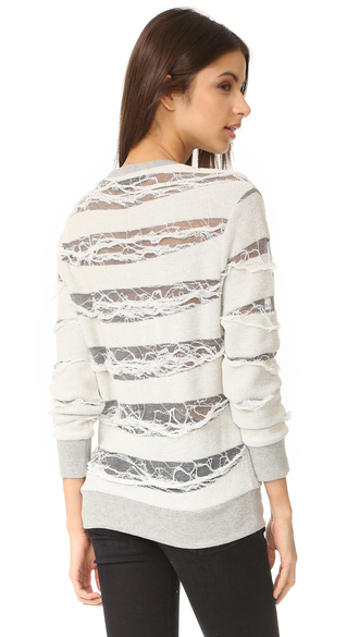 sweater daymon sweater fashion clothes long sleeves shredded stripes