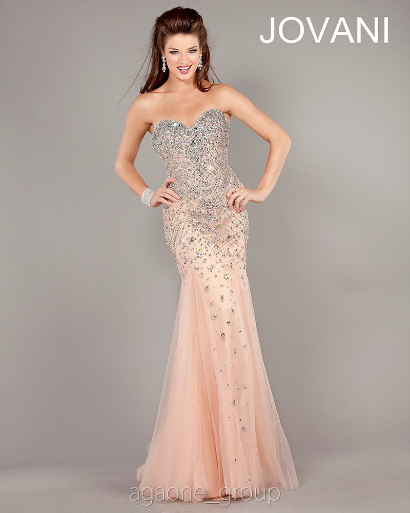 JOVANI Evening Dress 6837 Lowest Price GUARANTEE Sizes 00 24 Blush | eBay