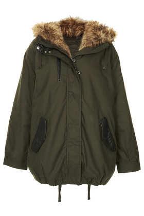Faux Fox Fur Oversized Padded Parka - Jackets & Coats  - Clothing  - Topshop